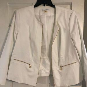Calvin Klein White Blazer Size 20W